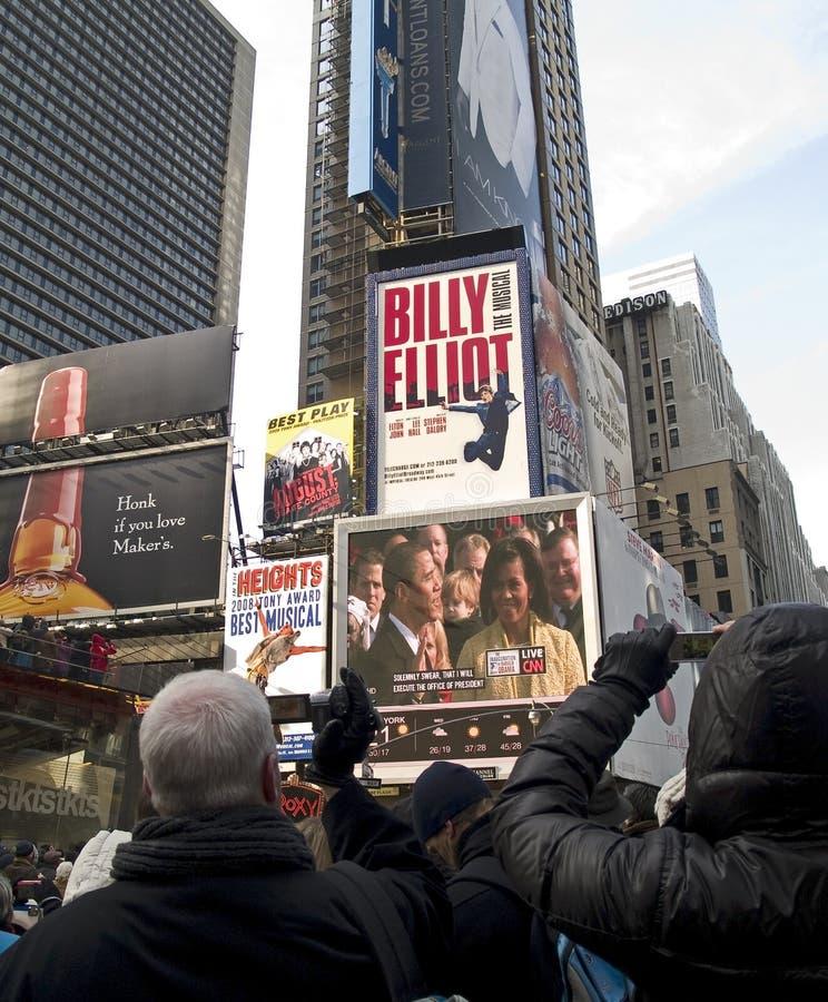 το obama όρκου παίρνει στοκ φωτογραφίες με δικαίωμα ελεύθερης χρήσης