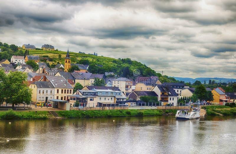 Το Oberbillig είναι η γερμανική πόλη στοκ φωτογραφία