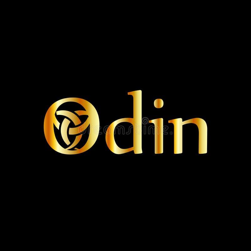 Το Odin- ο γραφικός είναι ένα σύμβολο των κέρατων Odin διανυσματική απεικόνιση