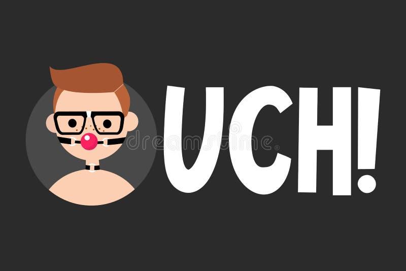 Το Ouch επεξήγησε το σημάδι Έννοια Bdsm απεικόνιση αποθεμάτων