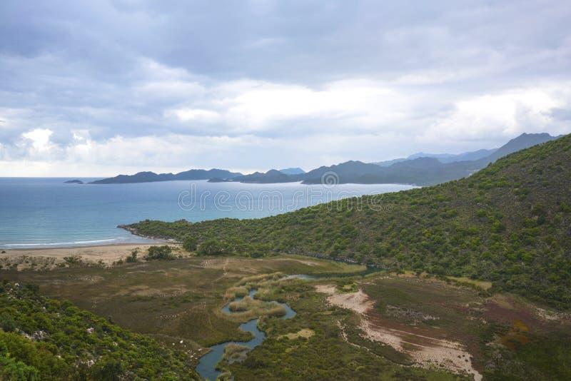 Το panaroma της παραλίας Cayagzi, Demre, Antalya, Τ στοκ εικόνες