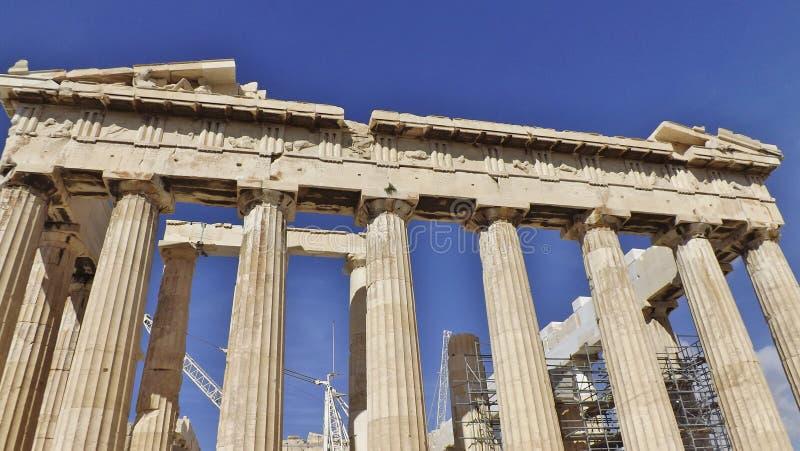 Το Parthenon, ακρόπολη, Αθήνα λεπτομέρεια στοκ εικόνες