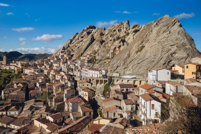 Το Pietrapertosa είναι μια πόλη και comune στην επαρχία Potenza στοκ εικόνες με δικαίωμα ελεύθερης χρήσης