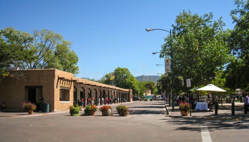 Το Plaza στη Σάντα Φε, Νέο Μεξικό στοκ φωτογραφία