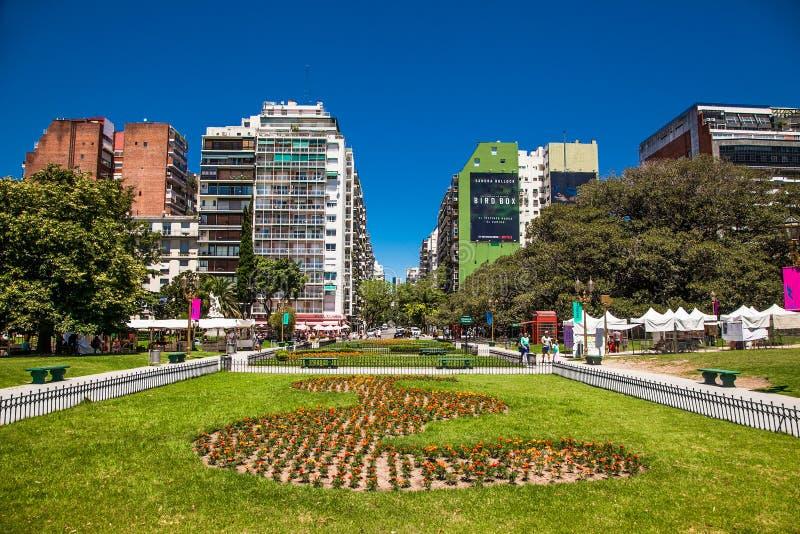 Το Plaza Francia είναι τουριστικός προορισμός στο Μπουένος Άιρες, Αργεντινή στοκ φωτογραφία