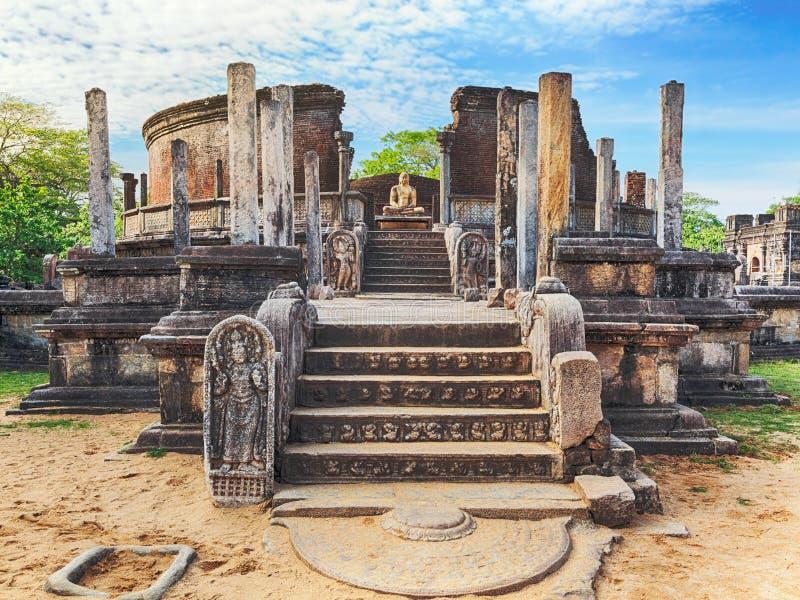 Το Polonnaruwa Vatadage στοκ εικόνες