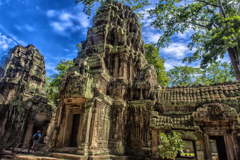 Το Prasat TA Prum ή ο ναός TA Prohm σύνθετος, κοντά σε Siem συγκεντρώνει, Καμπότζη στοκ εικόνα