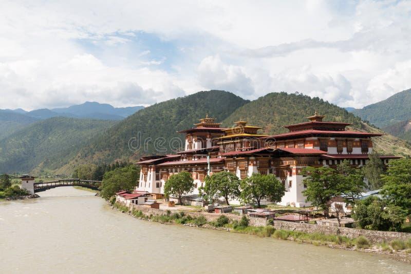 Το Punakha Dzong, το διοικητικό κέντρο Punakha dzongkhag σε Punakha, Μπουτάν στοκ εικόνα