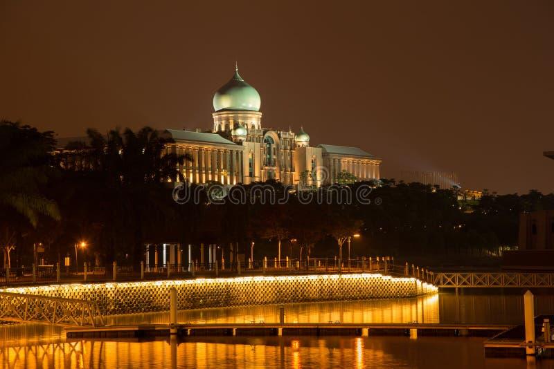 Το Putra Perdana στο ηλιοβασίλεμα στοκ εικόνα με δικαίωμα ελεύθερης χρήσης