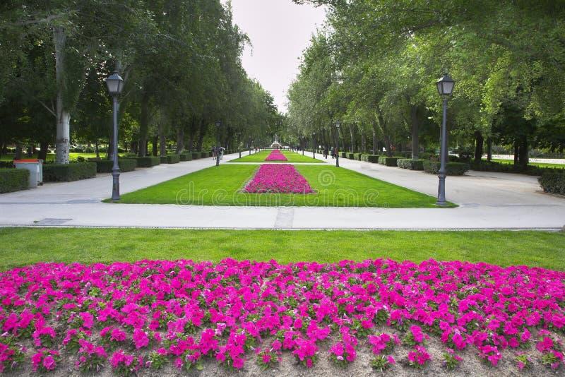 το retiro πάρκων της Μαδρίτης στοκ φωτογραφία με δικαίωμα ελεύθερης χρήσης