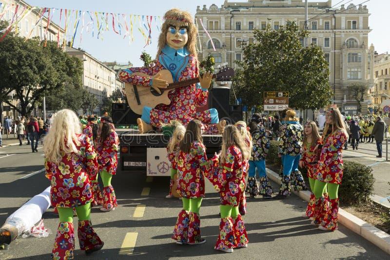 Το Rijeka καρναβάλι στην Κροατία στοκ εικόνα
