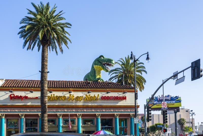 Το Ripley το θεωρεί ή όχι! στη λεωφόρο Hollywood, Hollywood, Λος Άντζελες, Καλιφόρνια, Ηνωμένες Πολιτείες της Αμερικής, ο Βορράς στοκ εικόνα με δικαίωμα ελεύθερης χρήσης