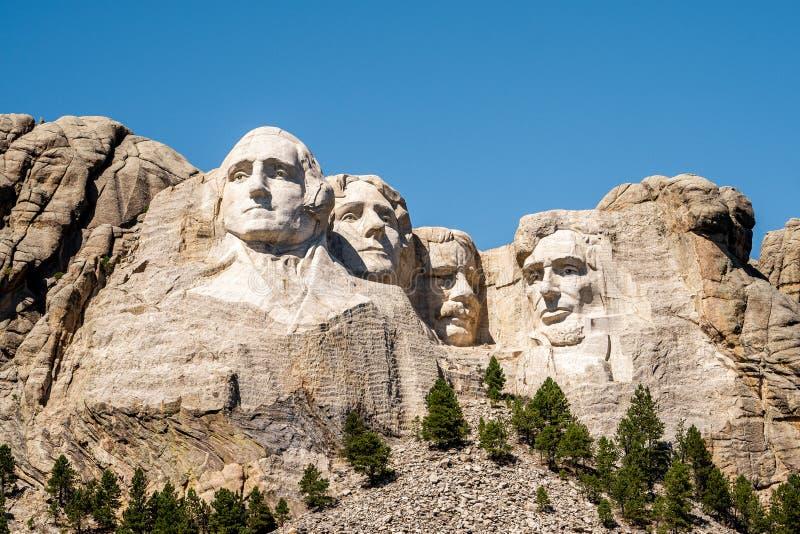 Το Rushmore national memorial , ένα από τα διάσημα εθνικά πάρκα και μνημεία στη Νότια Ντακότα, Ηνωμένες Πολιτείες της Αμερικής στοκ εικόνα