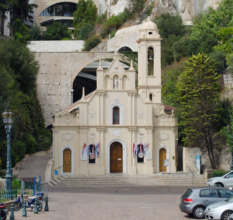 Το Sainte αφιερώνει το παρεκκλησι, Μόντε Κάρλο, Μονακό στοκ φωτογραφία