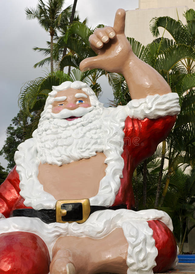 Το Santa κρεμά δέκα στοκ εικόνα