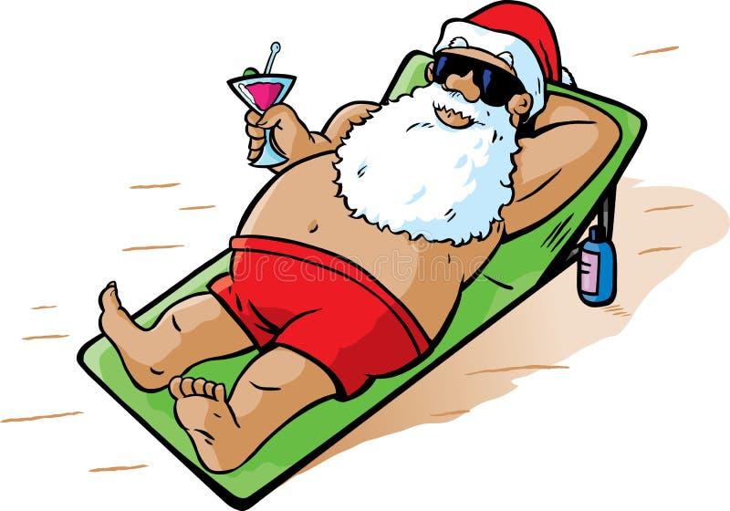 το santa παίρνει τις διακοπές απεικόνιση αποθεμάτων