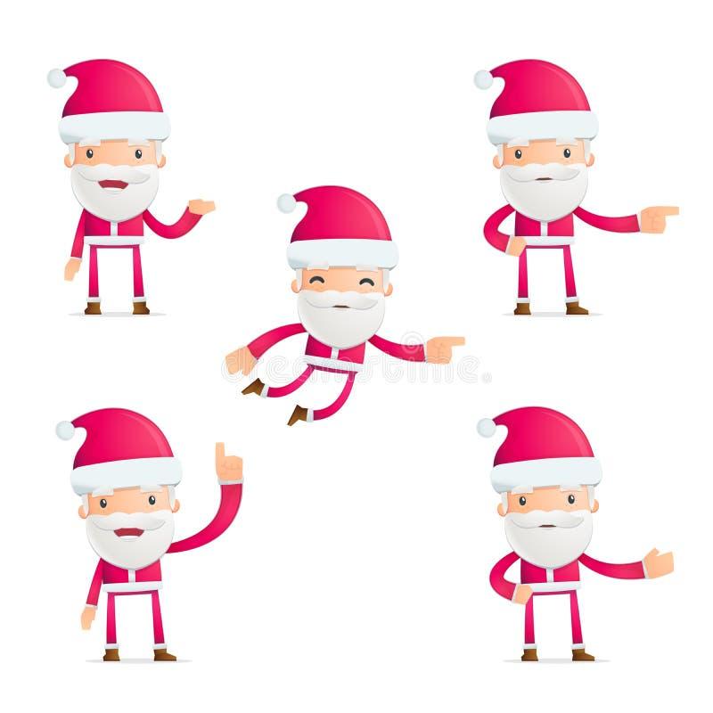 Το Santa σε διάφορο θέτει διανυσματική απεικόνιση