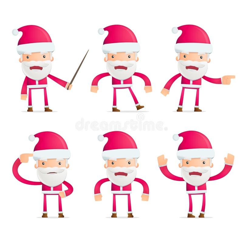 Το Santa σε διάφορο θέτει ελεύθερη απεικόνιση δικαιώματος