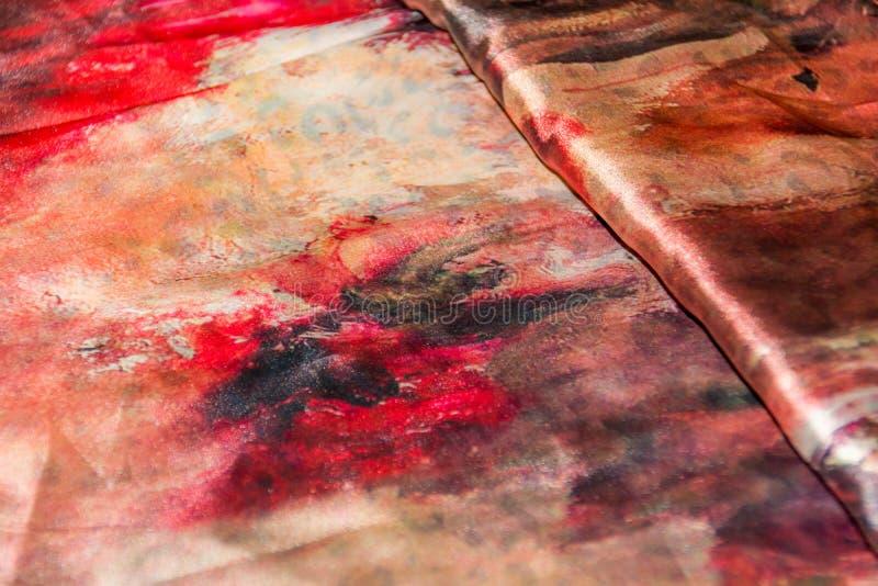 Το Satiny ιμπρεσσιονιστικό ύφασμα έβαλε διαγώνια το υπόβαθρο σε στρώσεις στοκ φωτογραφίες