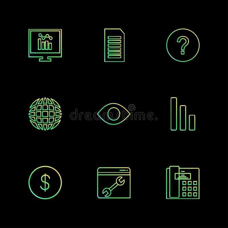 το seo, τεχνολογία, Διαδίκτυο, σημαίες, υπολογιστής, eps εικονίδια έθεσε το β ελεύθερη απεικόνιση δικαιώματος
