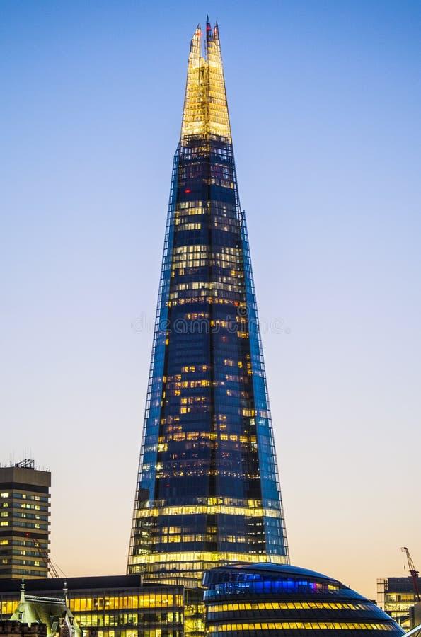 Το Shard στο Λονδίνο στοκ εικόνα με δικαίωμα ελεύθερης χρήσης