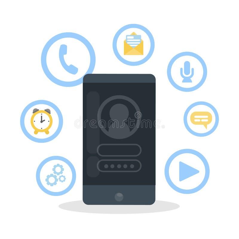 Το Smartphone χαρακτηρίζει infographic διανυσματική απεικόνιση