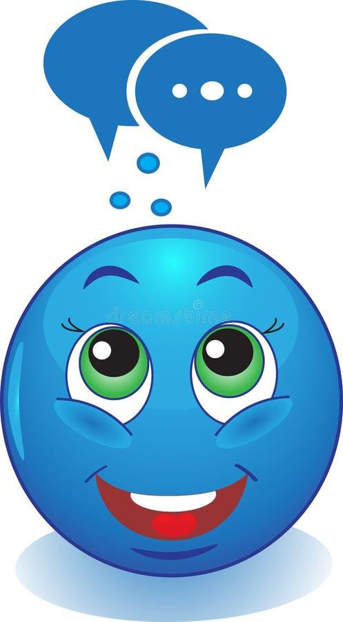 Το Smiley σκέφτεται. διανυσματική απεικόνιση