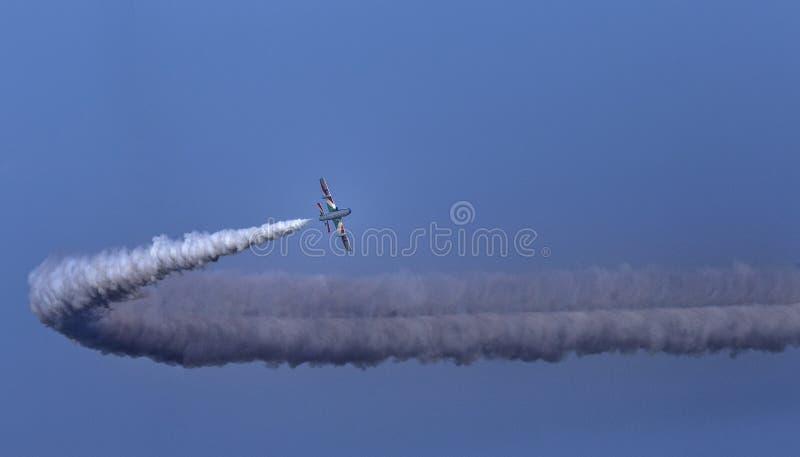 Το Soloist στον ιταλικό αέρα βελών tricolor παρουσιάζει στοκ φωτογραφίες