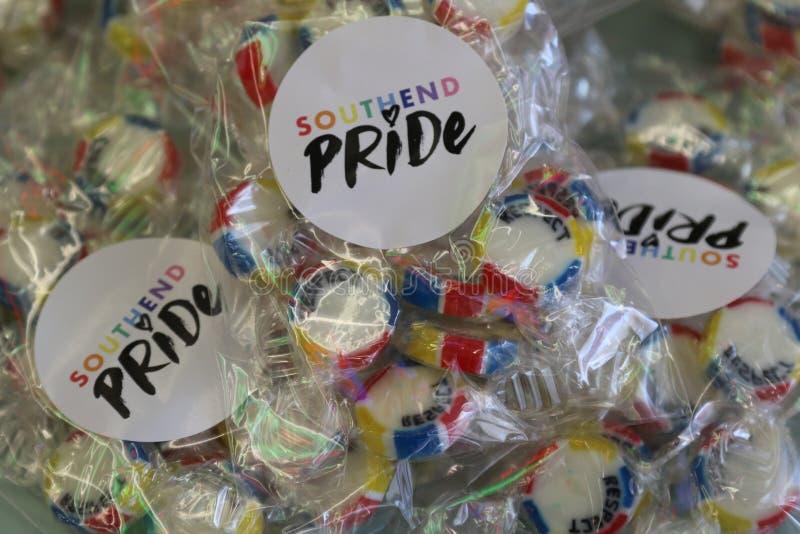 Το Southend στη θάλασσα, Essex, UK, στις 14 Ιουλίου 2018 ομοφυλοφιλική υπερηφάνεια ιδρώνει το γεγονός στοκ εικόνες