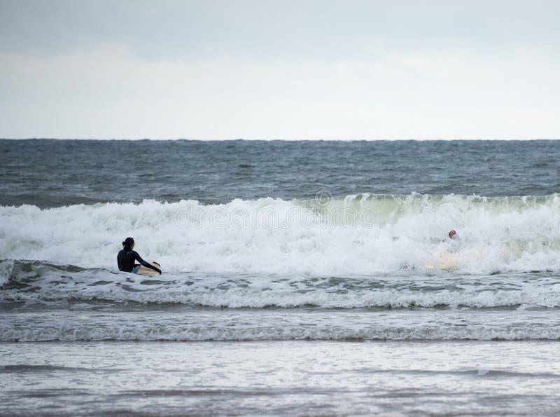 Το Surfer έχει Wipe έξω στοκ εικόνα