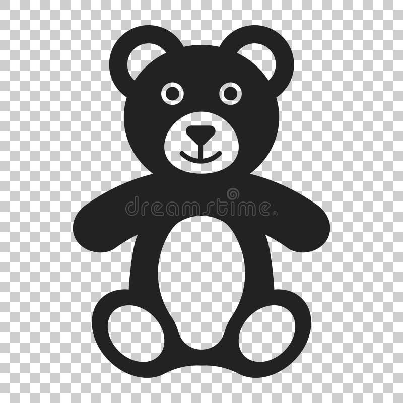 Το Teddy αντέχει το εικονίδιο παιχνιδιών βελούδου Διανυσματική απεικόνιση απομονωμένος δια ελεύθερη απεικόνιση δικαιώματος