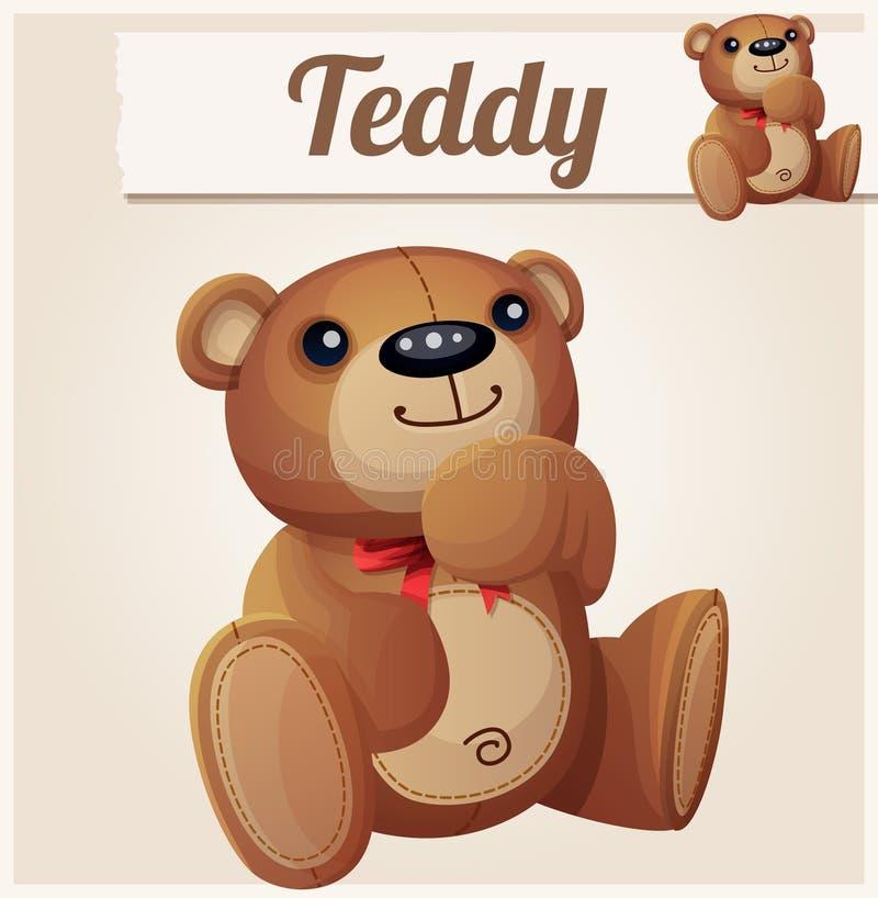 Το Teddy αντέχει τα όνειρα η αλλοδαπή γάτα κινούμενων σχεδίων δραπετεύει το διάνυσμα στεγών απεικόνισης απεικόνιση αποθεμάτων