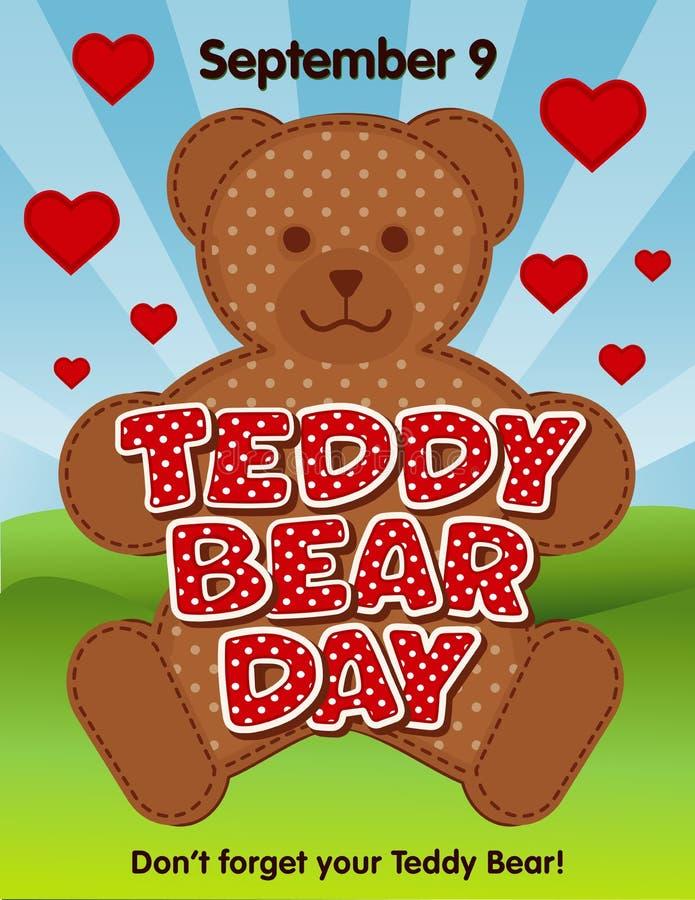 Το Teddy αντέχει την ημέρα, στις 9 Σεπτεμβρίου, δεν ξεχνά το Teddy ότι σας αντέχει απεικόνιση αποθεμάτων