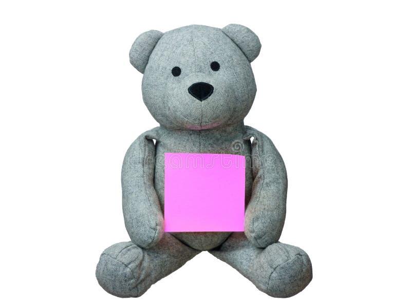 Το Teddy αντέχει την κενή κάρτα απομονωμένη διανυσματική απεικόνιση
