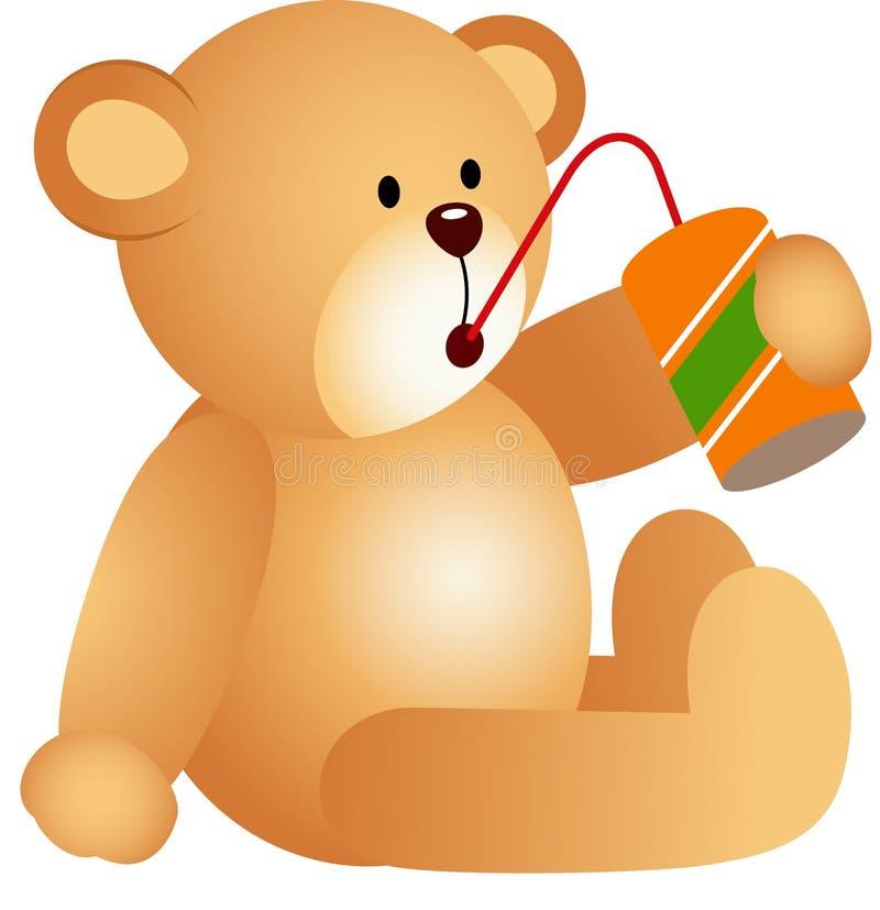 Το Teddy αντέχει τη σόδα διανυσματική απεικόνιση