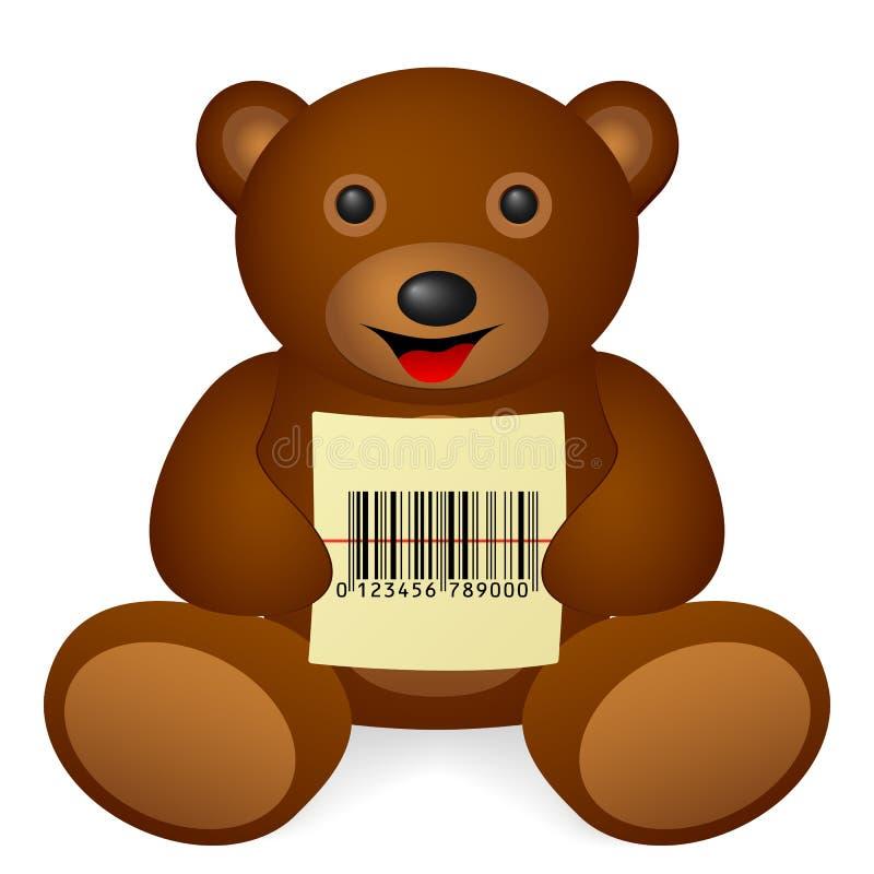 Το Teddy αντέχει τον κώδικα φραγμών ελεύθερη απεικόνιση δικαιώματος