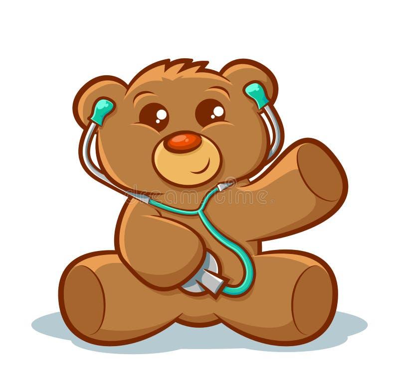 Το Teddy αντέχει το γιατρό ελεύθερη απεικόνιση δικαιώματος