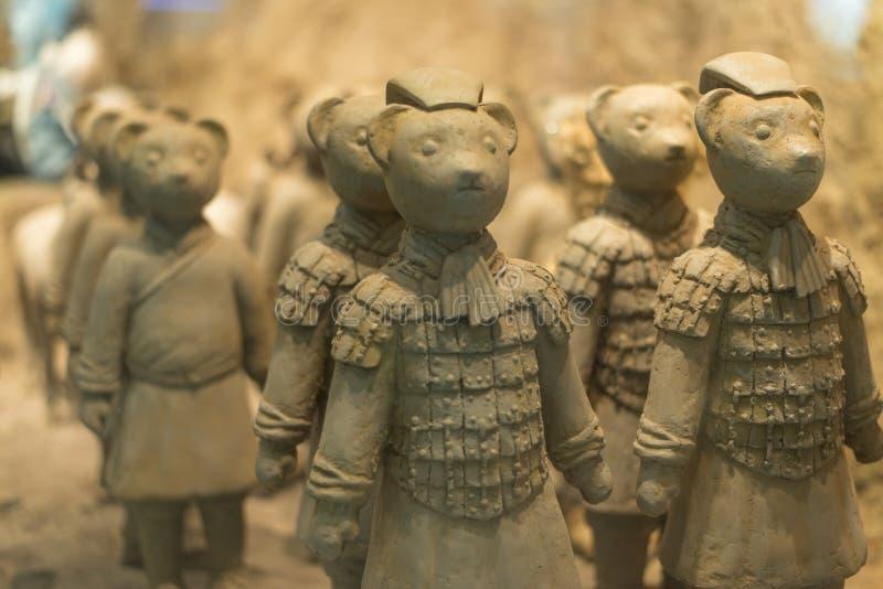 Το Teddy αντέχει το μουσείο στοκ φωτογραφίες