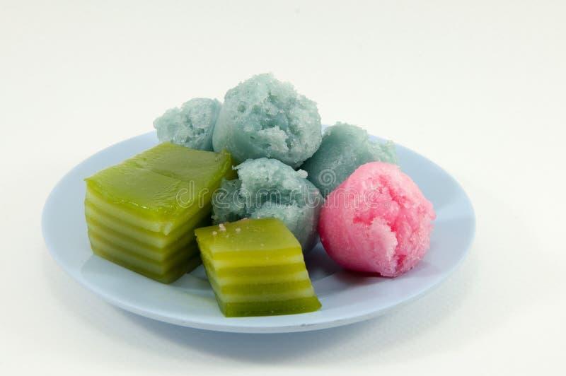 Το thuay fu Khanom ή το βρασμένο στον ατμό κέικ φλυτζανιών ή το φλυτζάνι Fu επιδορπίων είναι Thailan στοκ φωτογραφίες με δικαίωμα ελεύθερης χρήσης