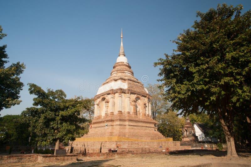 Το Tilokarat Chedi του ναού Wat Jhet Yot σε Chiang Mai, Ταϊλάνδη στοκ εικόνες με δικαίωμα ελεύθερης χρήσης