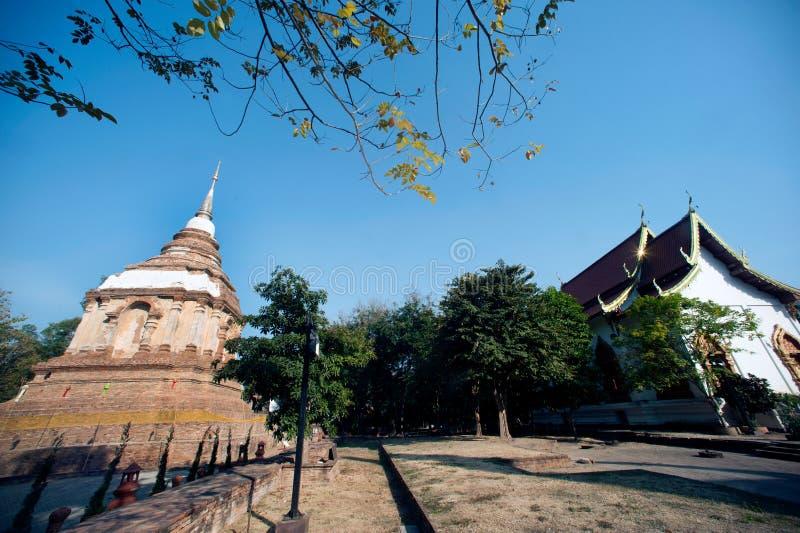 Το Tilokarat Chedi του ναού Wat Jhet Yot σε Chiang Mai, Ταϊλάνδη στοκ εικόνα με δικαίωμα ελεύθερης χρήσης