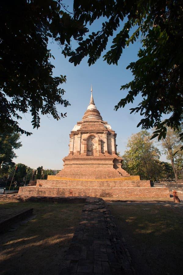 Το Tilokarat Chedi του ναού Wat Jhet Yot σε Chiang Mai, Ταϊλάνδη στοκ φωτογραφίες με δικαίωμα ελεύθερης χρήσης
