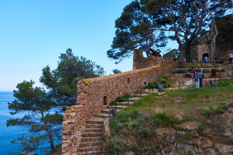 Το Tossa de χαλά στην Καταλωνία, Ισπανία στοκ εικόνα με δικαίωμα ελεύθερης χρήσης