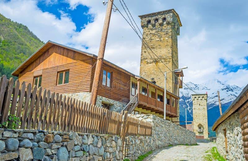 Το townlet ορεινών περιοχών στοκ εικόνες