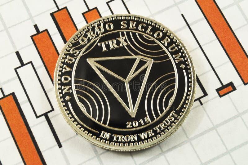 Το Tron είναι ένας σύγχρονος τρόπος της ανταλλαγής και αυτού του crypto νομίσματος στοκ φωτογραφίες με δικαίωμα ελεύθερης χρήσης