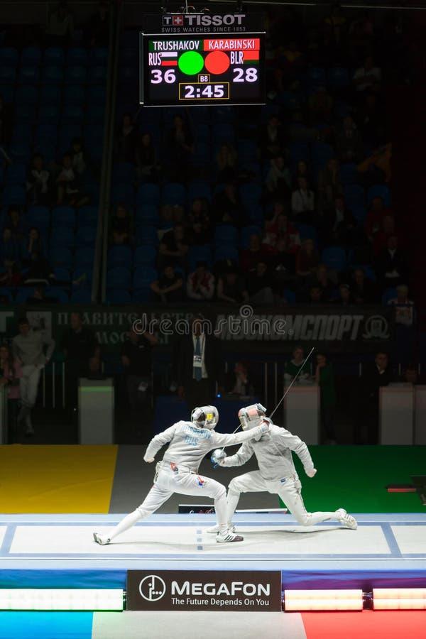 Το Trushakov και Karabinski ανταγωνίζονται στο πρωτάθλημα στοκ εικόνα με δικαίωμα ελεύθερης χρήσης
