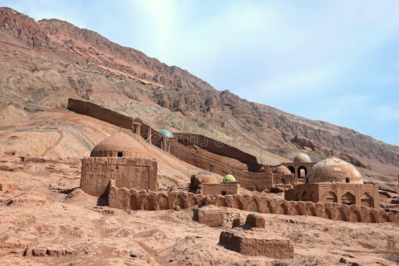 Το Tuyoq ή Tuyugou ή Tuyuk είναι ένα αρχαίο όαση-χωριό στην έρημο Taklamakan στη αυτόνομη περιοχή Xinjiang Uighur της Κίνας στοκ φωτογραφίες με δικαίωμα ελεύθερης χρήσης
