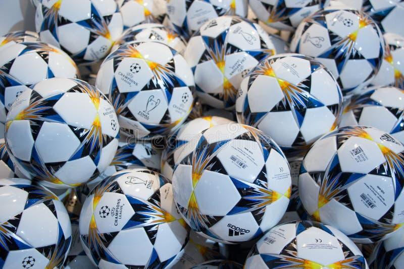 Το UEFA υπερασπίζεται τη σφαίρα το 2018 ένωσης στοκ φωτογραφίες με δικαίωμα ελεύθερης χρήσης