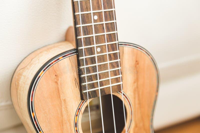 Το Upscale ukulele με woodgrain τελειώνει στοκ φωτογραφία με δικαίωμα ελεύθερης χρήσης