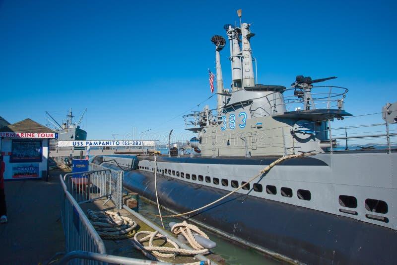 Το USS Pampanito στοκ εικόνα με δικαίωμα ελεύθερης χρήσης